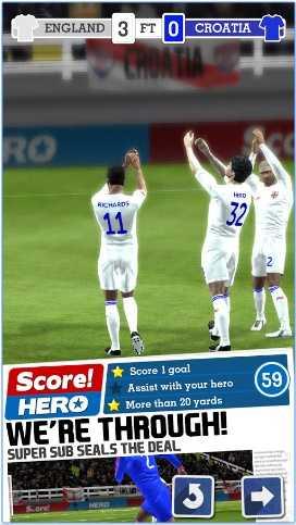 لعبة كرة القدم Score! Hero