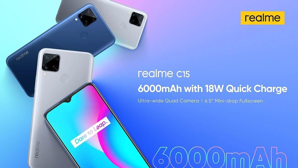 إطلاق ريلمي C15 بكاميرات رباعية وبطارية 6000mAh بسعر 137$ – ريفيو بلس